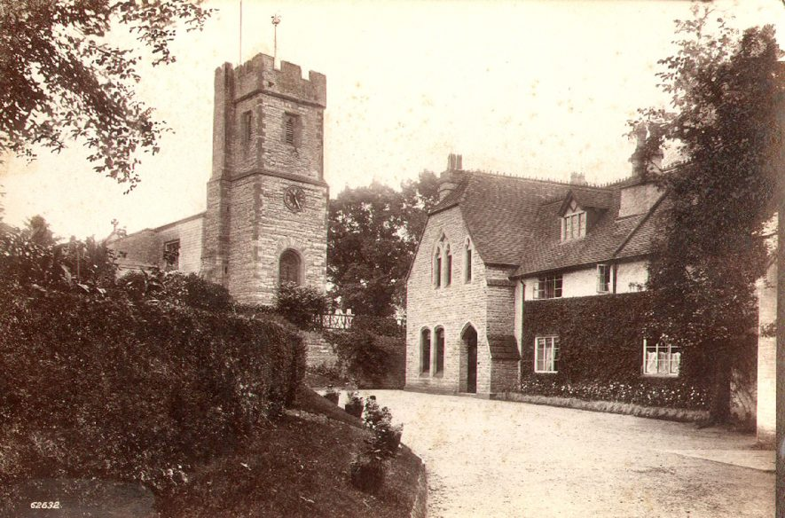 Church of St Lawrence and vicarage, Bidford on Avon.  1910 |  IMAGE LOCATION: (Warwickshire County Record Office)