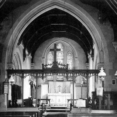 Binton.  Interior of St Peter's church