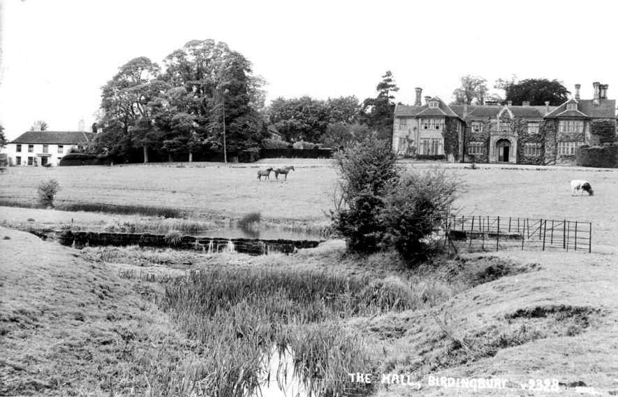 View of Birdingbury Hall with the River Leam in the foreground.  1930s |  IMAGE LOCATION: (Warwickshire County Record Office)