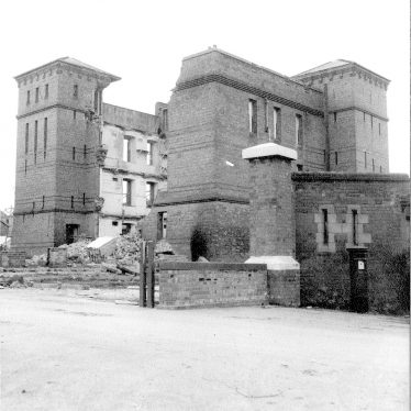 Budbrooke.  Partly demolished barracks