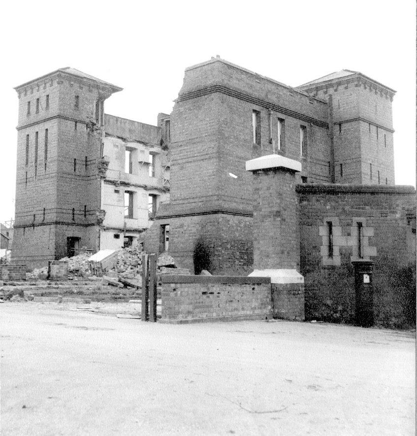 Budbrooke barracks, partly demolished.  1964 |  IMAGE LOCATION: (Warwickshire County Record Office)