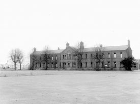 One of the deserted Budbrooke barrack blocks.  1964 |  IMAGE LOCATION: (Warwickshire County Record Office)