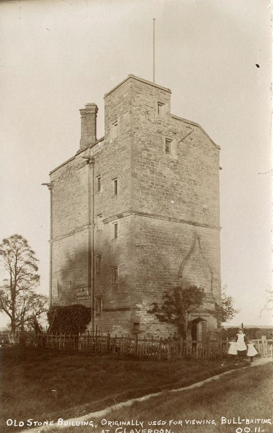 Claverdon Tower, whose original purpose is unsure.  1910s |  IMAGE LOCATION: (Warwickshire County Record Office)