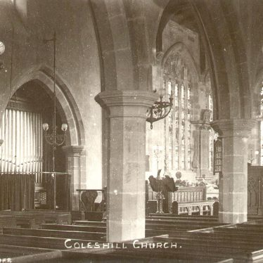 Coleshill.  Church interior