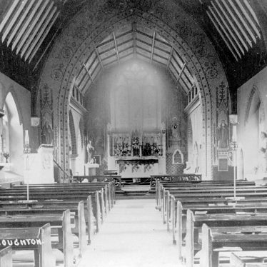 Coughton.  Roman Catholic church, interior