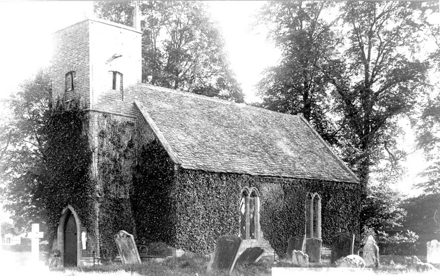 St Peter's church, Dorsington.  1920s |  IMAGE LOCATION: (Warwickshire County Record Office)