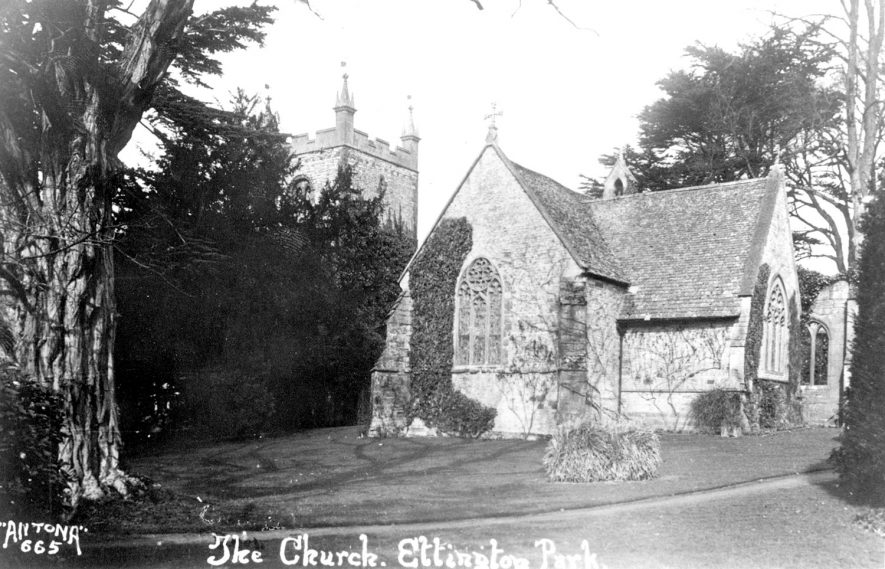 Ettington Old Church,  Ettington Park.  1920s    IMAGE LOCATION: (Warwickshire County Record Office)