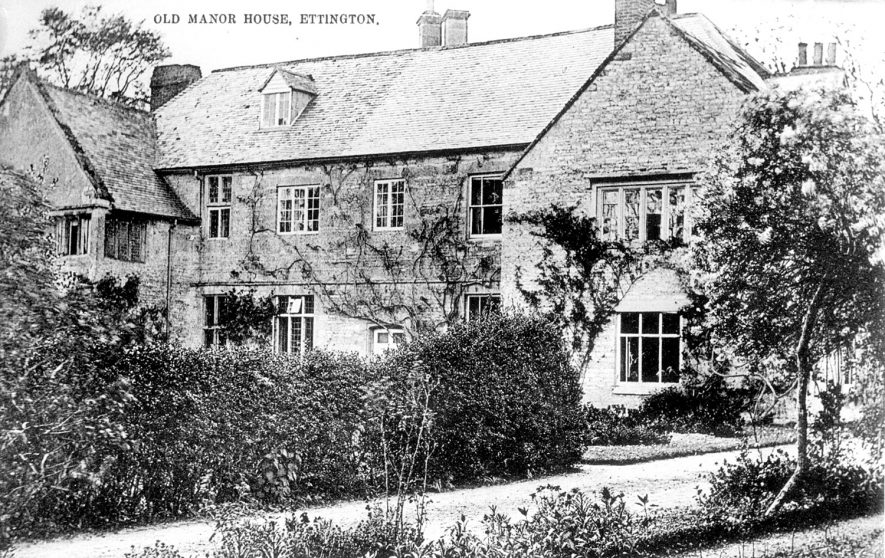 The Old Manor House, Ettington.  1900s |  IMAGE LOCATION: (Warwickshire County Record Office)