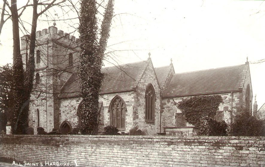 All Saints Church, Harbury.  1920s |  IMAGE LOCATION: (Warwickshire County Record Office)