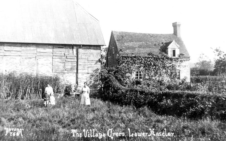Lower Haselor village green.  1920