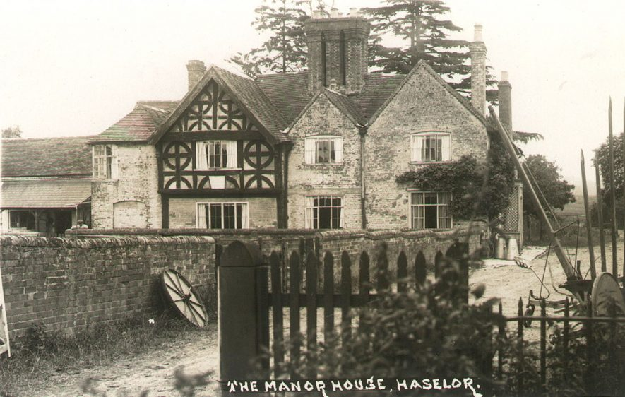 The Manor House, Haselor.  1910 |  IMAGE LOCATION: (Warwickshire County Record Office)