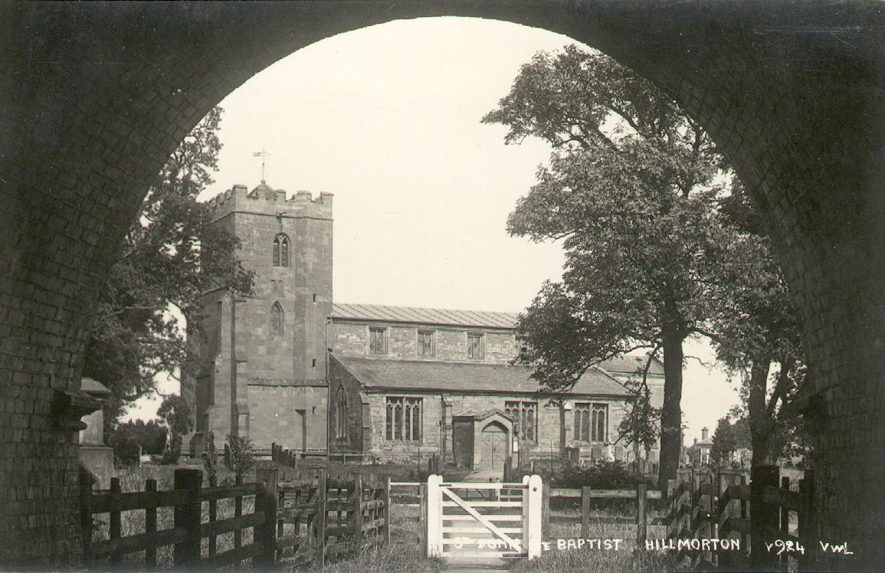 St John the Baptist church, Hillmorton.  1920s |  IMAGE LOCATION: (Warwickshire County Record Office)