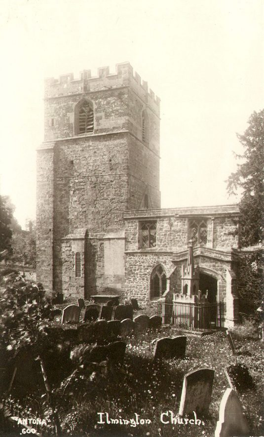 Exterior of the church of St Mary, Ilmington.  1920s |  IMAGE LOCATION: (Warwickshire County Record Office)