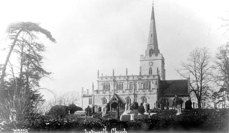 St Mary's Church, Lapworth.  1930s |  IMAGE LOCATION: (Warwickshire County Record Office)