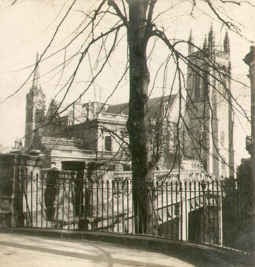 Exterior view of All Saints Church, Leamington Spa.  1911 |  IMAGE LOCATION: (Warwickshire County Record Office)