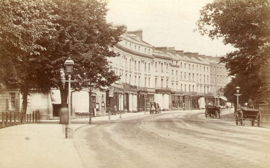 The Lower Parade, Leamington Spa.  1870s |  IMAGE LOCATION: (Warwickshire County Record Office)
