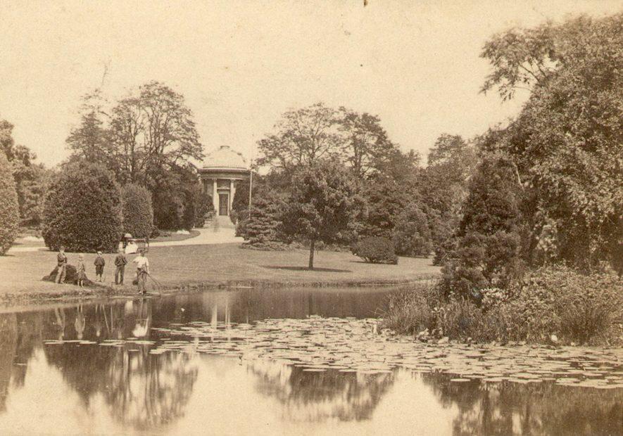Jephson Gardens, Leamington Spa.  1860s    IMAGE LOCATION: (Warwickshire County Record Office)