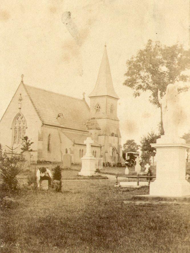 Brunswick Street cemetery, Leamington Spa.  1870s    IMAGE LOCATION: (Warwickshire County Record Office)