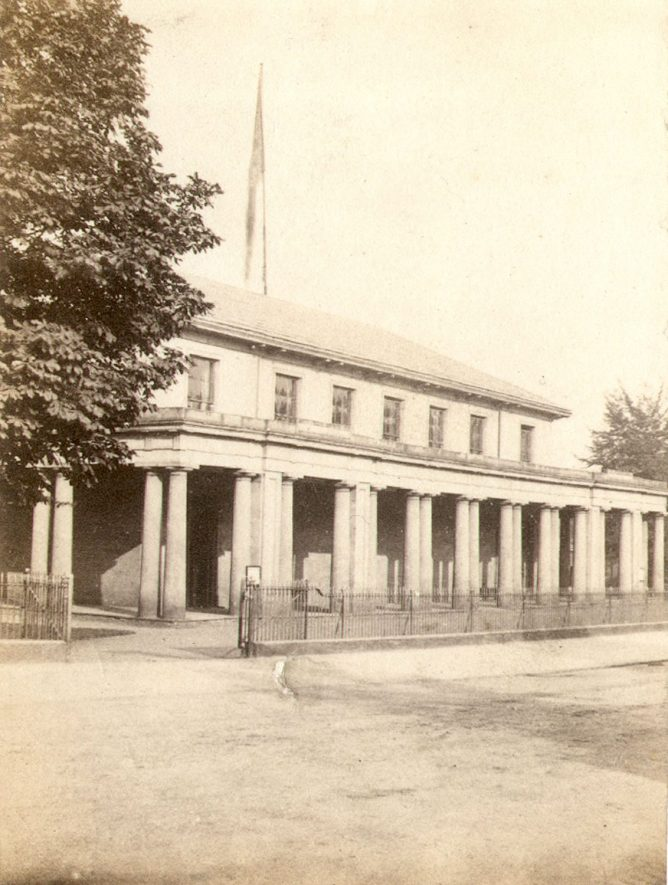 Leamington Spa Pump Rooms.  1850s |  IMAGE LOCATION: (Warwickshire County Record Office)
