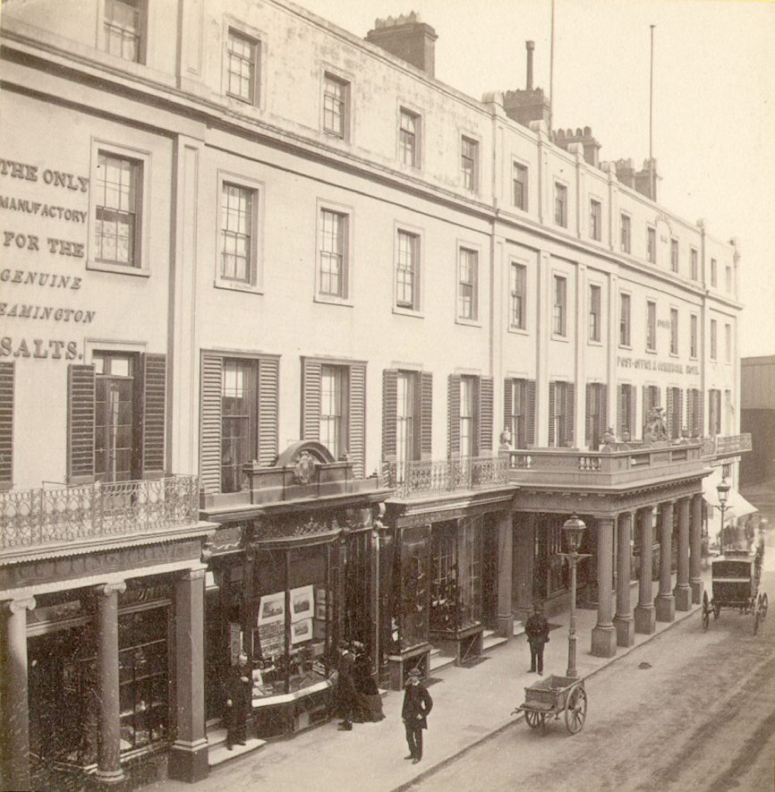 Bath Street and Post Office, Leamington Spa.  1860s |  IMAGE LOCATION: (Warwickshire County Record Office)