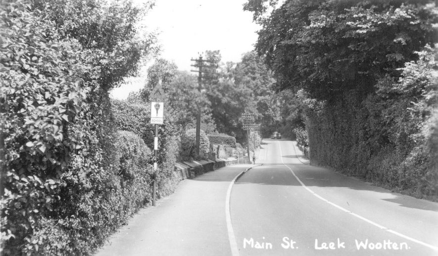 Main Street, Leek Wootton.  1940s |  IMAGE LOCATION: (Warwickshire County Record Office)