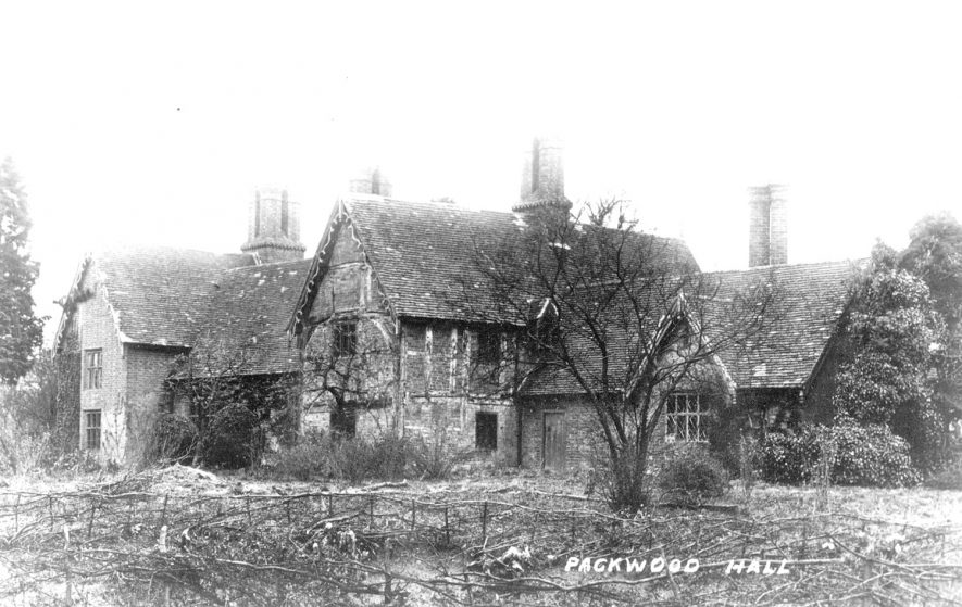 Packwood Hall.  1900s    IMAGE LOCATION: (Warwickshire County Record Office)