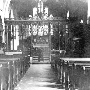 Polesworth.  Parish church interior