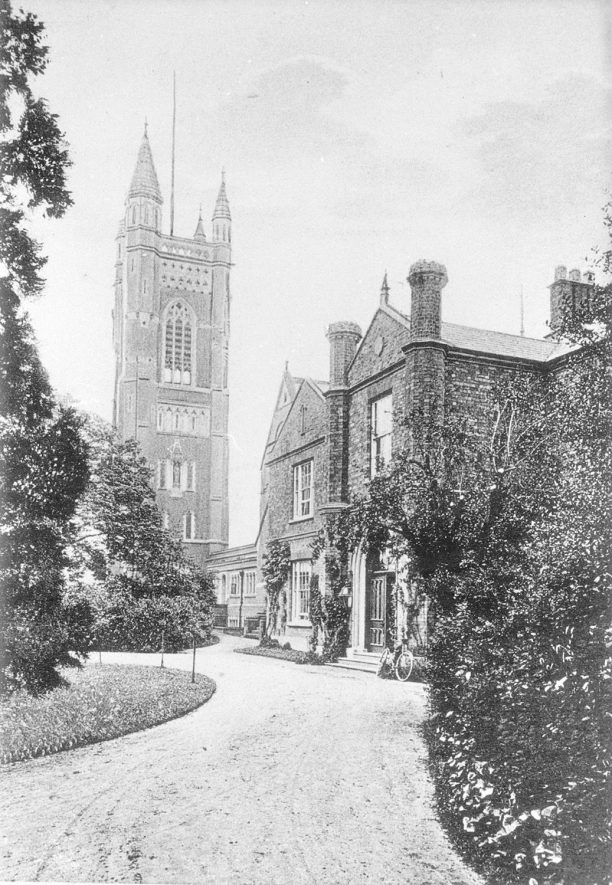 St Mary's Priory, Princethorpe.  The tower and guest house.  1909 |  IMAGE LOCATION: (Warwickshire County Record Office)