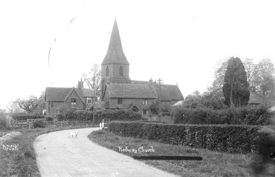 Radway church.  1930s |  IMAGE LOCATION: (Warwickshire County Record Office)