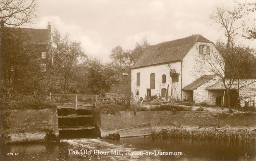 The Old Flour Mill, Ryton on Dunsmore.  1920s |  IMAGE LOCATION: (Warwickshire County Record Office)
