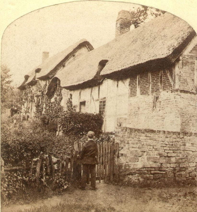 Ann Hathaway's cottage, Shottery.  1860 |  IMAGE LOCATION: (Warwickshire County Record Office)
