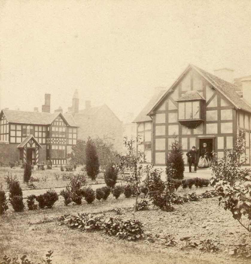 Shakespeare's House, Stratford upon Avon.  1870s.    IMAGE LOCATION: (Warwickshire County Record Office)