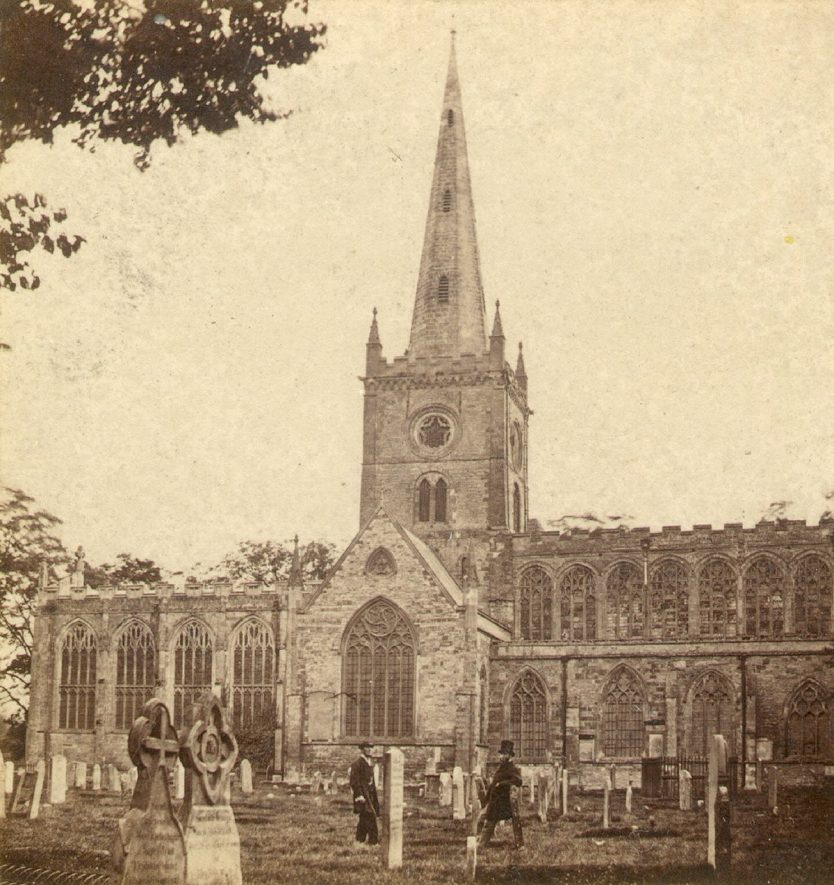 Stratford upon Avon Parish Church.  1860s |  IMAGE LOCATION: (Warwickshire County Record Office)