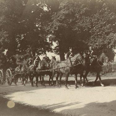 Warwick.  Yeomanry Horse Team