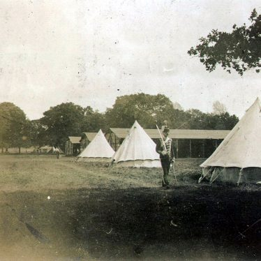 Warwick.  Yeomanry Camp in Castle Park