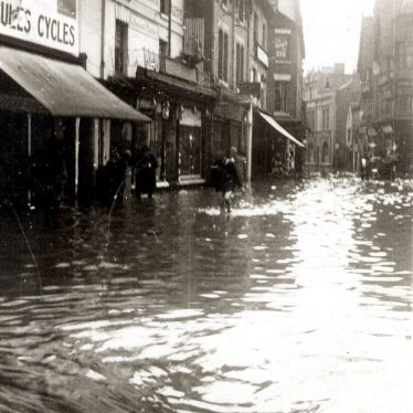 Nuneaton.  Abbey Street after floods