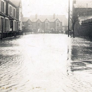 Nuneaton.  Riversley Road after floods