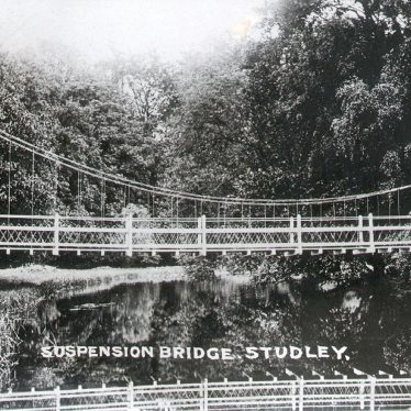 Studley.  Suspension Bridge
