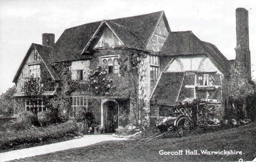 Gorcott Hall, Studley.  1900s |  IMAGE LOCATION: (Warwickshire County Record Office)