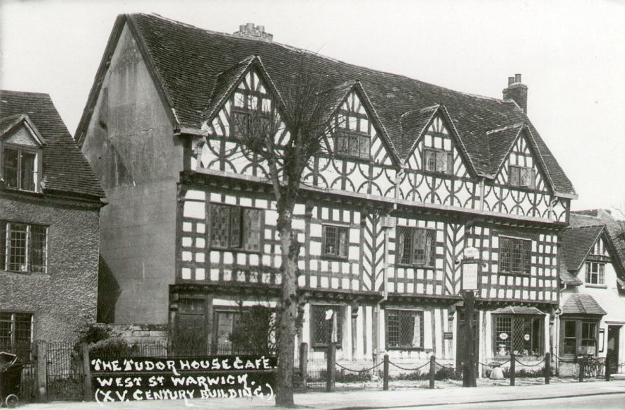The Tudor Cafe in West Street, Warwick, a fifteenth century building.  1900s |  IMAGE LOCATION: (Warwickshire County Record Office)
