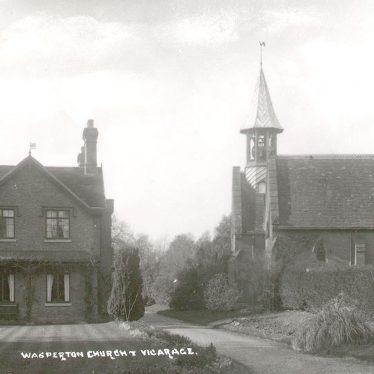 Wasperton.  Church and vicarage