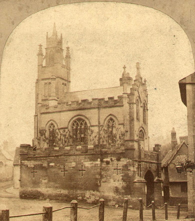 St James Church over the East Gate, Warwick.  1850s |  IMAGE LOCATION: (Warwickshire County Record Office)