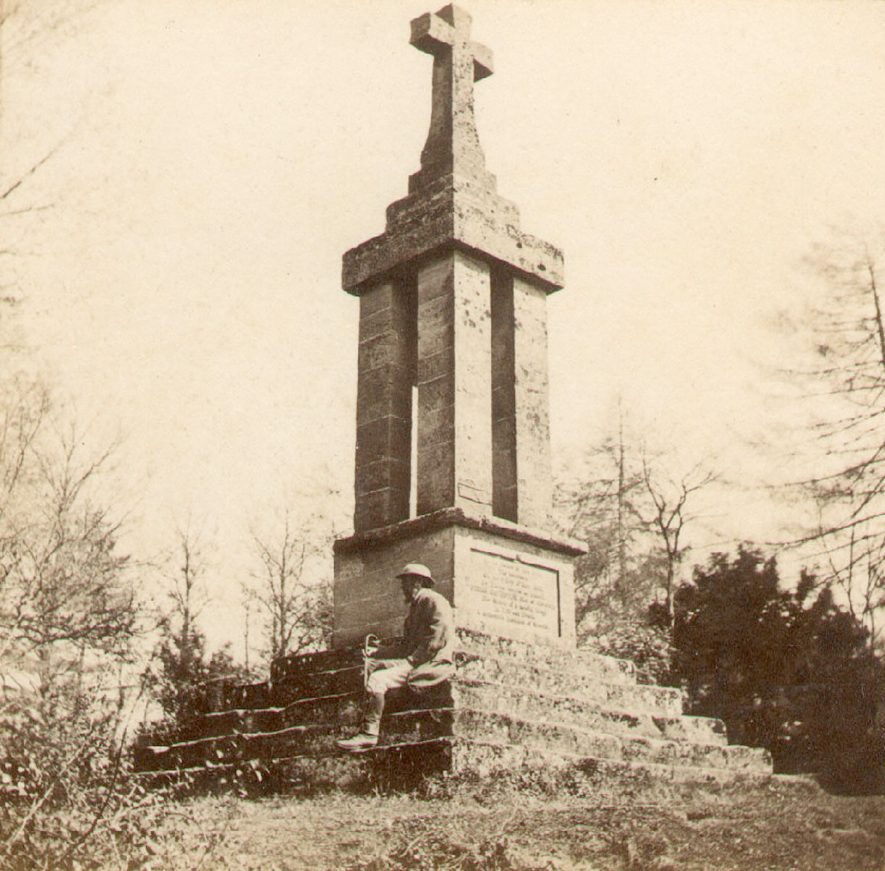 The Gaveston Monument, Guys Cliff, Warwick.  1870 |  IMAGE LOCATION: (Warwickshire County Record Office)