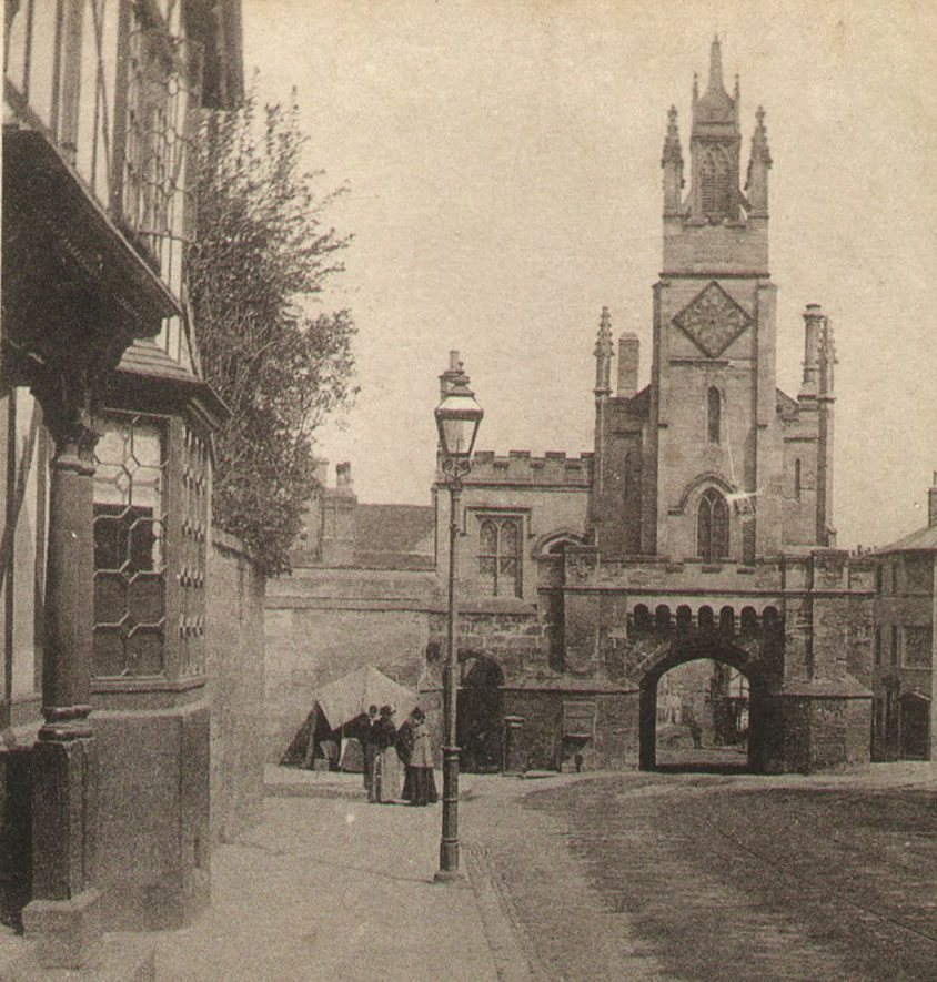 The East Gate, Warwick.  1890s |  IMAGE LOCATION: (Warwickshire County Record Office)