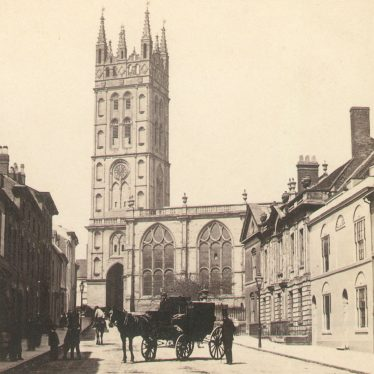 Warwick.  St Mary's Church and Church Street