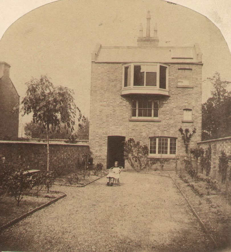 Building at end of garden of No 5 Beauchamp Square, Leamington Spa, built by Samuel Buckle. Probably to be used as a photographic studio or scientific laboratory.  1880s    IMAGE LOCATION: (Warwickshire County Record Office)