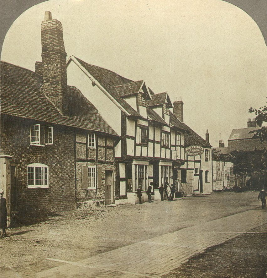 Millwrights Arms in Coton End, Warwick.  1850s |  IMAGE LOCATION: (Warwickshire County Record Office)