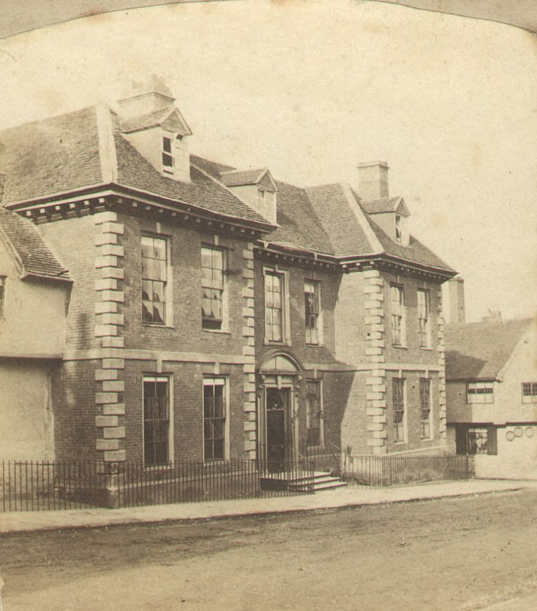 Landor House, Smith Street, Warwick.  1850s |  IMAGE LOCATION: (Warwickshire County Record Office)