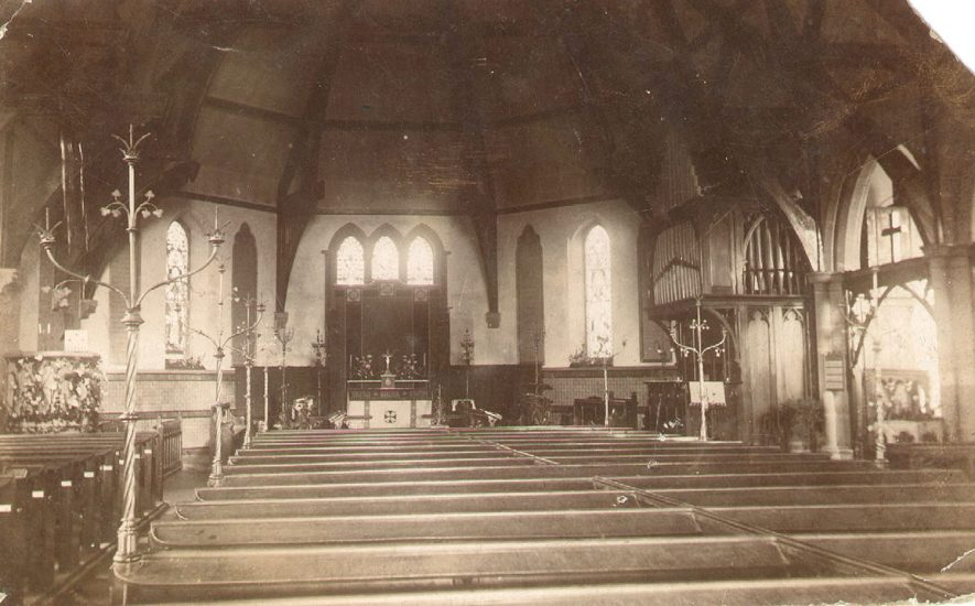 St Paul's Church, interior, Warwick.  1910s    IMAGE LOCATION: (Warwickshire County Record Office)