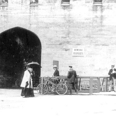 Warwick.  Castle gates